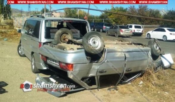 Շիրակի մարզում բախվել են Opel-ը, Mercedes Vito-ն և ВАЗ 2114-ը, որոնցից մեկը գլխիվայր շրջվել է. կա 3 վիրավոր (տեսանյութ)