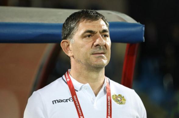 Армен Гюльбудагянц подал в отставку с поста главного тренера сборной Армении