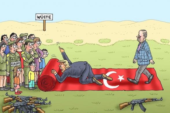 Գերմանական մամուլը ծաղրանկարում պատկերել է Սիրիայի հյուսիսում ստեղծված իրավիճակը