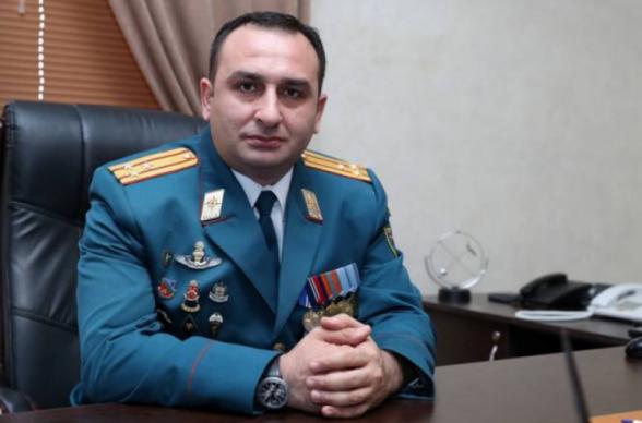 Директор Спасательной службы МЧС Армении уволен с занимаемой должности