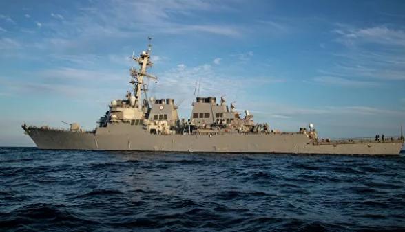 Американский ракетный эсминец «Porter» вошел в порт Батуми