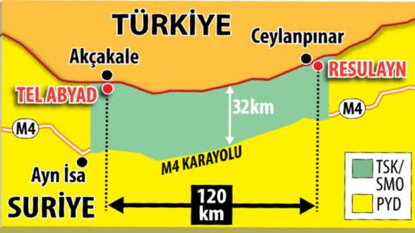 Սիրիայի հյուսիսում հրադադարից հետո 120կմ շառավղով տարածքը կանցնի Թուրքիայի վերահսկողության տակ
