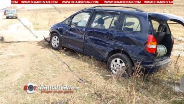 Լոռու մարզում բախվել են 66–ամյա վարորդի ГАЗ 2410-ն ու 26–ամյա վարորդի Opel Zafira-ն. կան վիրավորներ (տեսանյութ)