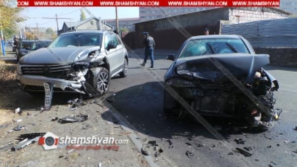 Երևանում բախվել են Volkswagen Tiguan-ն ու Opel-ը. 3 վիրավորներից մեկը մանկահասակ է