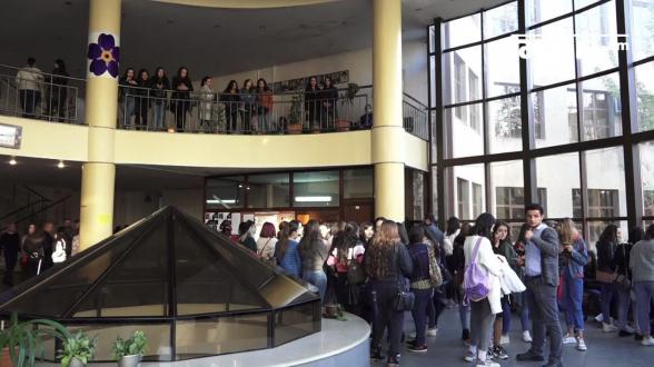 В ЕГУ продолжается студенческая забастовка (видео)