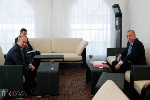 Эрдоган заявил о намерении провести переговоры с Путиным после визита в США