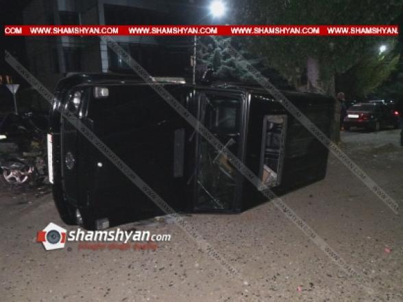 Կոտայքում Mercedes G-ով վթարի է ենթարկվել քրեական պատմություններով Չարենցավանում հայտնի «Բդոն»
