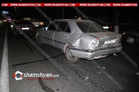 Երևանում. բախվել են Mercedes-ը, BMW-ն ու Opel-ը (տեսանյութ)