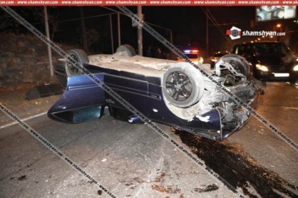 Նոր մանրամասներ Երևանում տեղի ունեցած 21-ամյա ոչ սթափ վիճակում վարորդի վթարից. պարզվել է՝ կան վիրավորներ