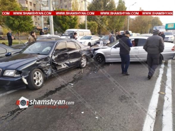 Երևանում բախվել են 3 BMW-ները, Kia-ն և Mercedes-ը. կա վիրավոր