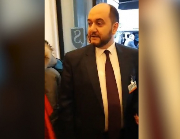 ՀՅԴ Բելգիայի երիտասարդական միության անդամները բռնացրել են Արայիկ Հարությունյանին (տեսանյութ)