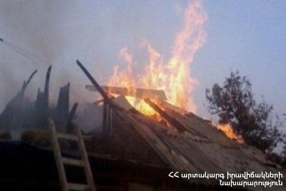 Հրդեհ Գեղհովիտում․ տան բնակիչը տարբեր աստիճանի այրվածքներով հոսպիտալացվել է