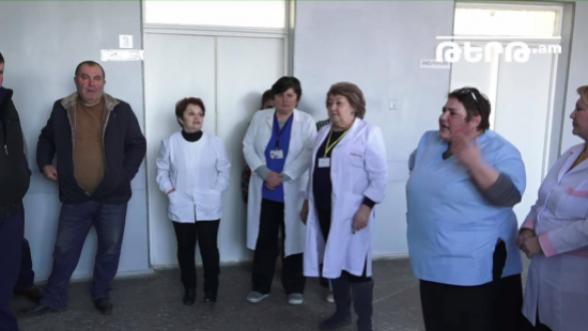 Եղվարդի ծննդատունը լուծարվում է․ բուժաշխատողների բողոքի ակցիան (տեսանյութ)