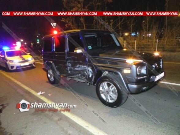 Բախվել են Mercedes G 550-ն ու ГАЗ 2410-ը. կա վիրավոր (տեսանյութ)