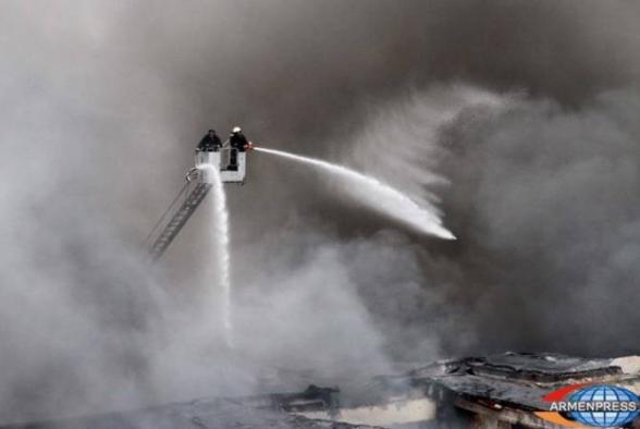 Մյասնիկյան պողոտայում տուն է այրվել