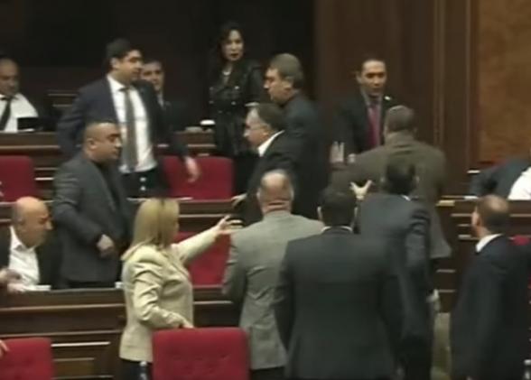 В НС произошла потасовка между депутатами (видео)