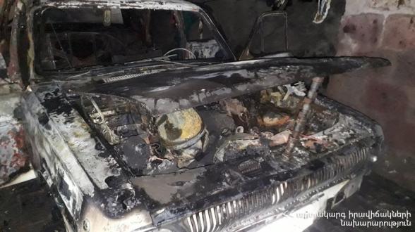 Ուջանում ամբողջությամբ այրվել է ավտոմեքենայի շարժիչը և սրահը