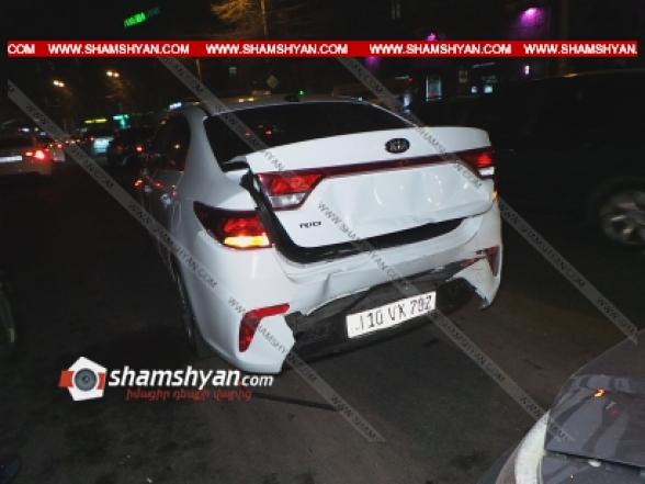 Գարեգին Նժդեհի հրապարակում Opel-ը բախվել է KIA-ին, KIA-ն էլ վրաերթի է ենթարկել փողոցը չթույլատրելի հատվածով անցնող 2 հետիոտնի