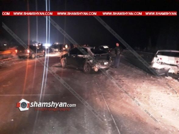 Արարատի մարզում մերկասառույցի պատճառով բախվել է 14 ավտոմեքենա. կան վիրավորներ