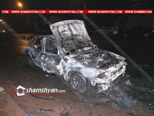 «Գոշ» գազալցակայանի մոտ կայանված Opel-ում հրդեհ է բռնկվել. այն ամբողջովին վերածվել է մոխրակույտի (տեսանյութ)