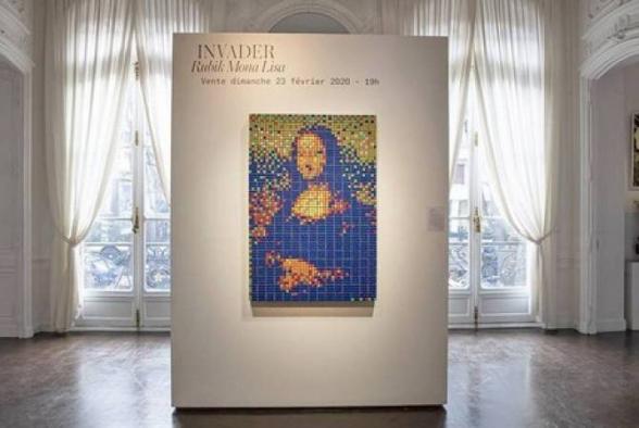 Ռուբիկի խորանարդիկներով «Մոնա Լիզան» գրեթե 500 հազար եվրոյով վաճառել են Փարիզի աճուրդում