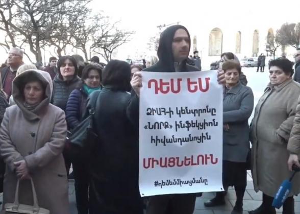 Բողոքի ակցիաներ Կառավարության դիմաց (տեսանյութ)