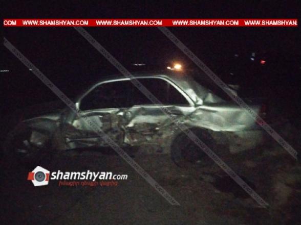 Արմավիրի մարզում բախվել են 22–ամյա վարորդի Mercedes-ն ու 30–ամյա վարորդի Toyota Camry-ն. կան վիրավորներ