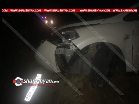 Արմավիրի մարզում 37-ամյա վարորդը Nissan-ով դեռևս անհայտ հանգամանքներում կողաշրջվել է. կան վիրավորներ