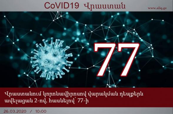 Վրաստանում կորոնավիրուսով վարակվածների թիվը հասել է 77-ի. aliq.ge
