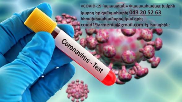 «COVID-19 Հայաստան» Փաստահավաք խումբը ստանում է ահազանգեր, որ կորոնավիրուսի ախտանշաններ ունեցող անձանց հրաժարվում են թեստավորել