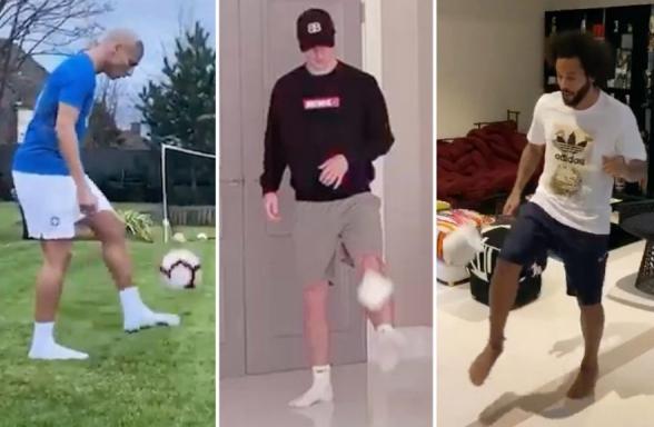 «Մնա տանը» մարտահրավերն ընդունած ֆուտբոլիստները