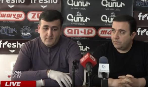 Հովհաննես Շահինյանի և Նարեկ Մանթաշյանի ասուլիսը (տեսանյութ)