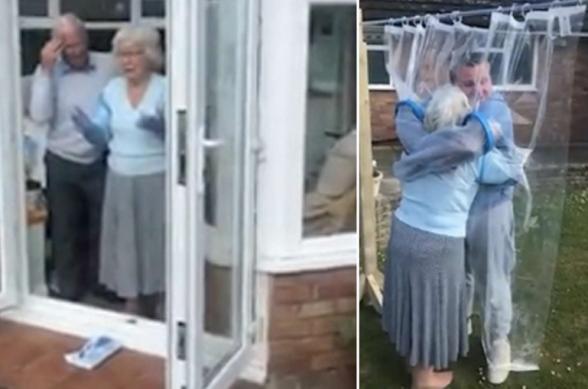 Մեծ Բրիտանիայում ամիսներ շարունակ տատիկից հեռու գտնված թոռը նրան գրկելու համար ապահով հարմարանք է ստեղծել