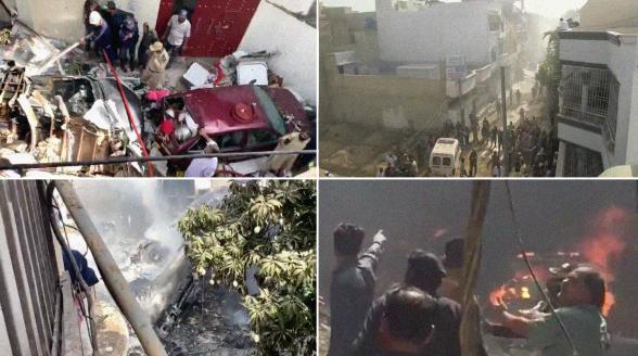 При крушении самолета в Пакистане погибли не менее 107 человек (видео)