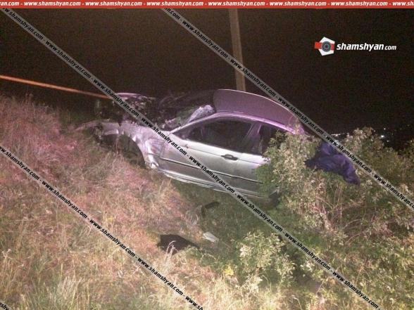 Ավտովթար Կոտայքի մարզում 42-ամյա վարորդը BMW-ով բախվել է երկաթե արգելապատնեշին և ընկել ցած