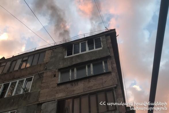Վանաձոր քաղաքի բնակարաններից մեկում հրդեհ է բռնկվել․ կա տուժած
