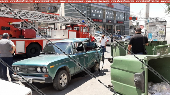 Երևանում բախվել են «Iveko» ավտոաշտարակն ու «Վազ 2106»-ը