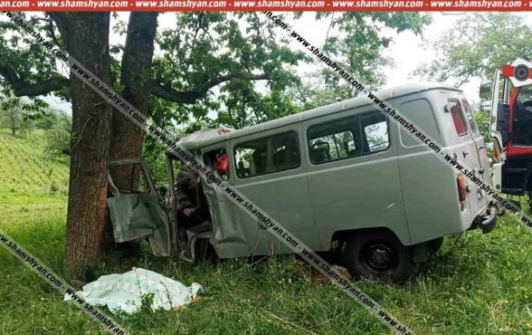 Դիլիջանի անտառում ՀՀ ՊՆ «ՈՒԱԶ»-ը բախվել է ծառին. կա 1 զոհ, 1 վիրավոր