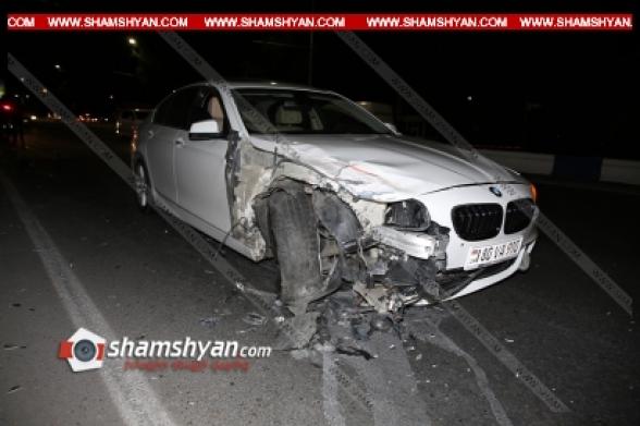 Երևանում 29–ամյա վարորդը BMW-ով ԱՄՆ դեսպանատան դիմաց բախվել է Opel-ին, այնուհետև KIA-ին. Opel-ն էլ բախվել է ծառին