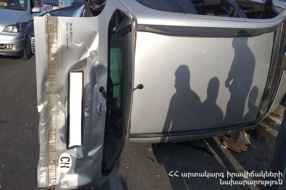 Փարաքար գյուղում բախվել են «Opel Astra G», «Opel Zafira», «ԳԱԶ-2110» և «Merсedes C» մակնիշների ավտոմեքենաները