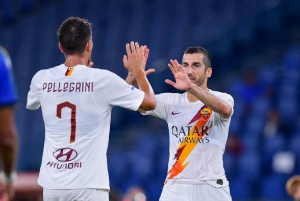 Благодаря голу и голевой передаче Мхитаряна «Рома» одержала победу над «Пармой» (видео)