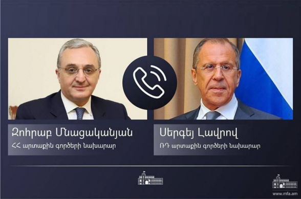 Զոհրաբ Մնացականյանը հեռախոսազրույց է ունեցել Սերգեյ Լավրովի հետ