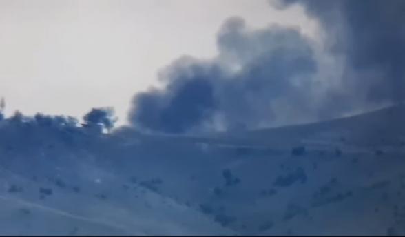Армянские ВС подбили азербайджанский танк (видео)