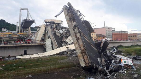 Спустя два года после обрушения в Генуе открывают новый мост (видео)