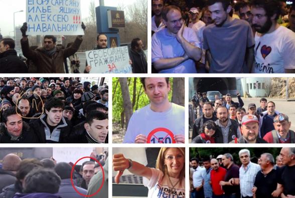 Сквер Маштоца, «100 драмов», «электрик-Ереван», «Я – против», «бархатная» революция