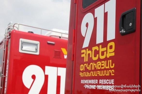 Գորիս քաղաքում «Վոլգա-2410» ավտոմեքենան բախվել է ծառին և հայտնվել ձորում. կան տուժածներ
