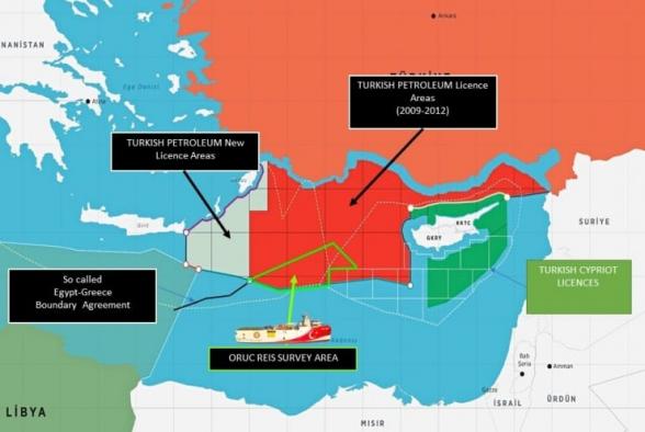 Թուրքիան մեղադրել է Հունաստանին Արևելյան Միջերկրականում «լարվածություն ստեղծելու մեջ»
