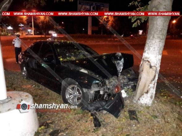 Լոռու մարզում ոստիկանության 27-ամյա ծառայողը BMW-ով բախվել է ծառին