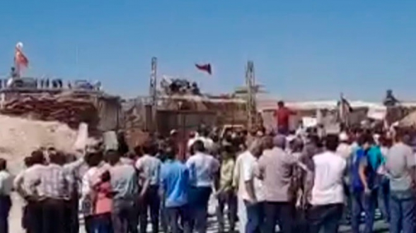В Идлибе прошла акция против турецкого военного присутствия (видео)