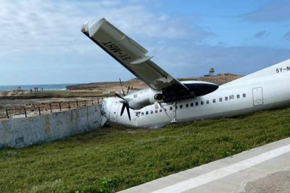 В Могадишо самолет разбился о бетонную стену